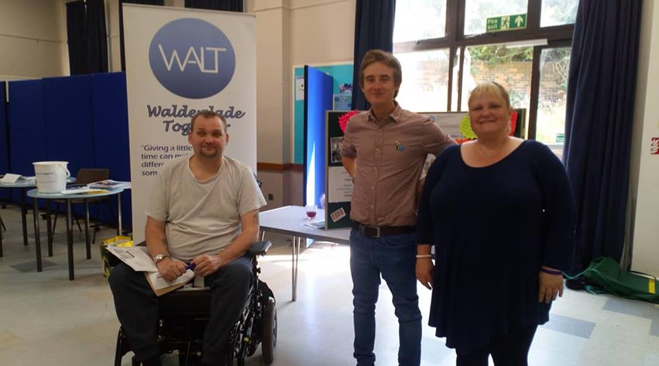 Walt volunteers at the Disability Medway Networks on tour event