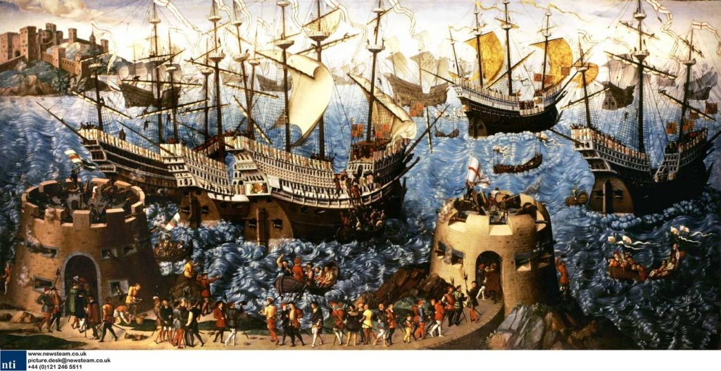 King Henry VIII arriving in Dover